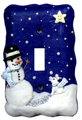 December Meeting Snowman Light Switch Cover Central Oklahoma